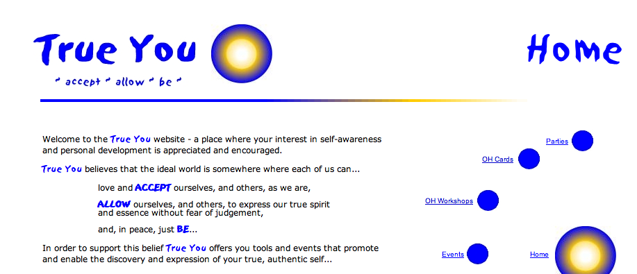 Original True You Homepage